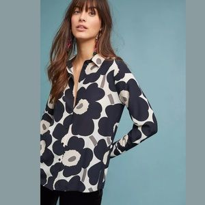 New Anthropologie Marimekko Gabro Poppy Blouse